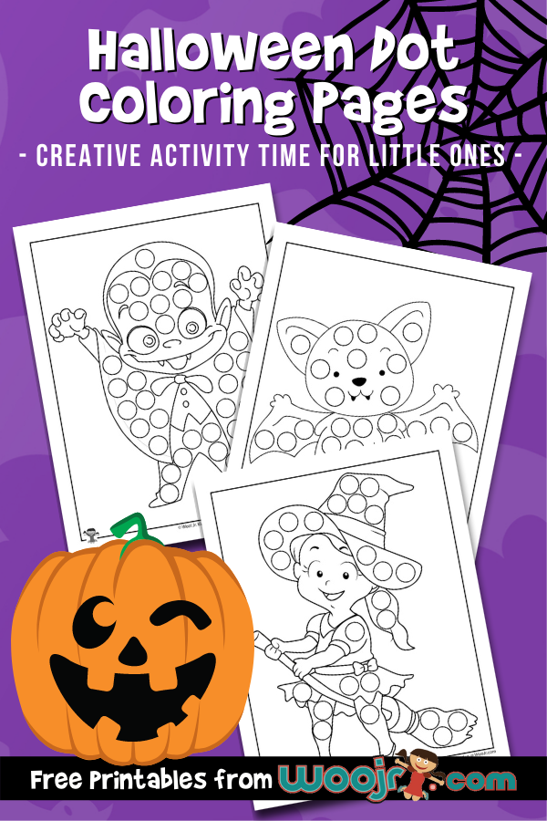 Halloween Dot Coloring Pages