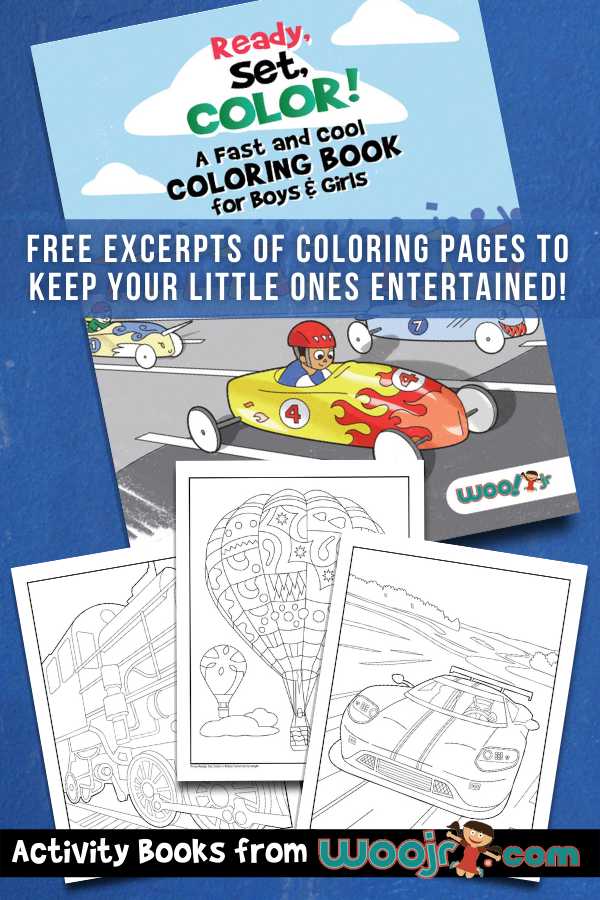 Things that go coloring pages for boys and girls