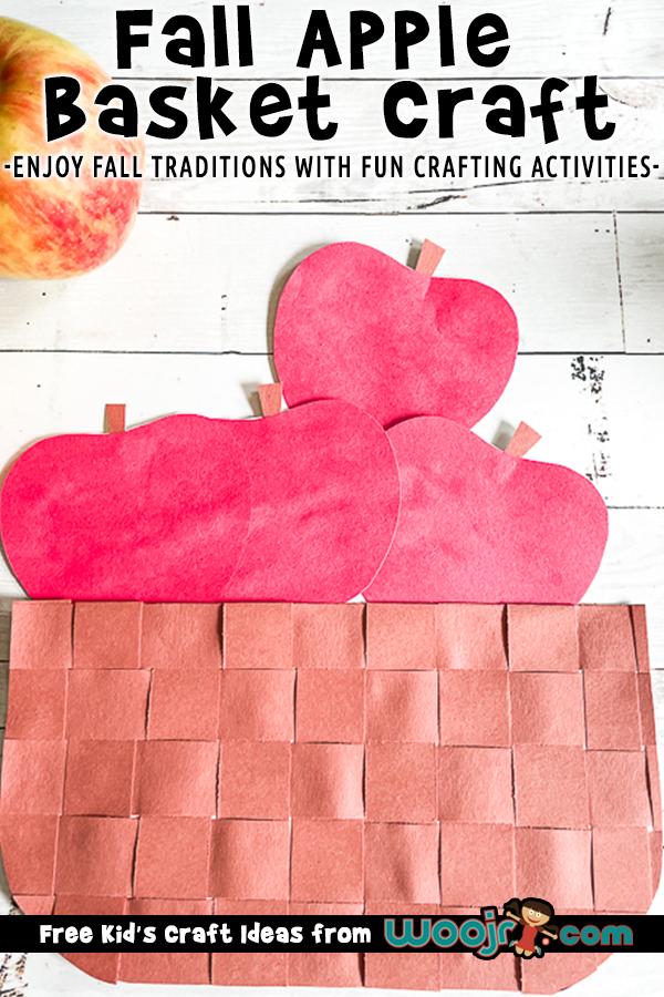 Paper Apple Basket Craft for Kids