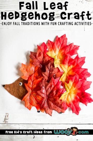 Fall Hedgehog Craft