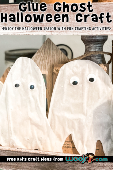 Glue Ghost Craft for Kids