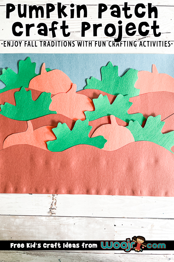 Pumpkin Patch Craft for Kids made with construction paper