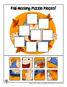 Fall Puzzle Games to Print