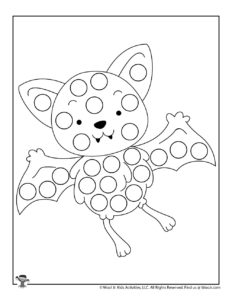 Bat Halloween Dot Marker Activity Page to Print