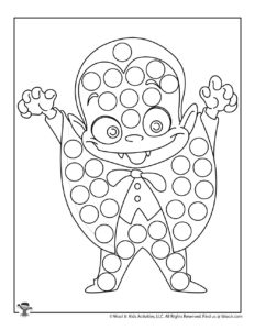 Little Vampire Do a Dot Coloring Page