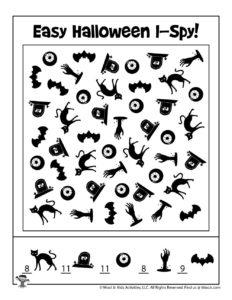 Halloween Boredom Buster Activity - KEY