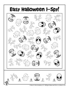 Easy I Spy Halloween Activity to Print - KEY