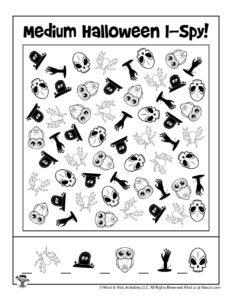 Halloween I Spy Games for Kids
