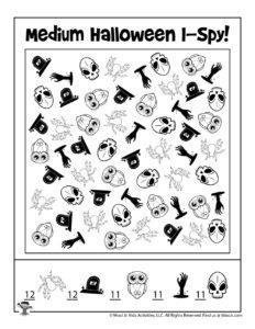 Halloween I Spy Game - ANSWER KEY