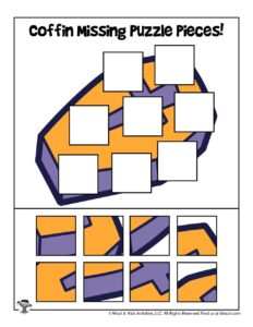Printable Halloween Picture Puzzles