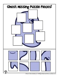 Ghost Halloween Printable Puzzles for Kids