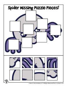 Printable Halloween Preschool Jigsaw Puzzle