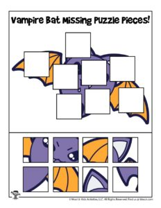 Printable Halloween Puzzle Activity for Kids