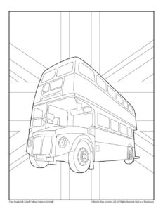 Bus Collection of Transportation Coloring Pages