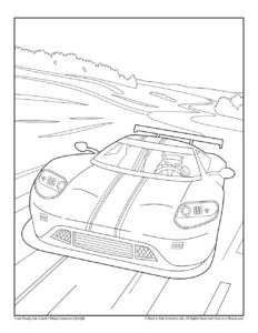 Race Car Free Transportation Coloring Sheet