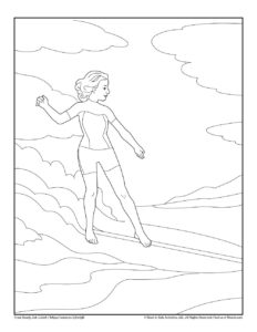 Surf Board Fun Coloring Page for Kids