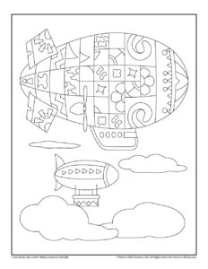 Zeppelin Coloring Page Printable