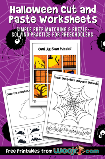 Halloween Cut and Paste Worksheets