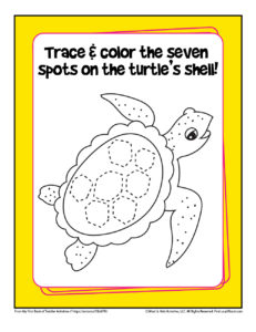 Number Seven Page for Toddlers