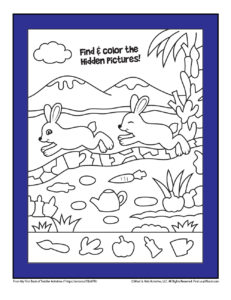 Printable Hidden Picture Toddler Assignment
