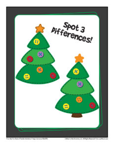 Spot the Difference Printable Activity for Kids