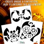 Steampunk Pumpkin Stencils for Halloween