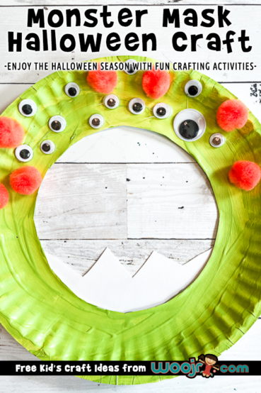 Paper Plate Monster Mask Craft