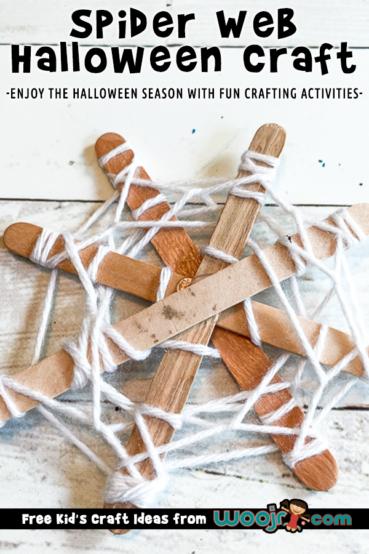 Popsicle Stick Spider Web Craft