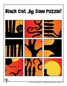 Cut and Paste Halloween Puzzle