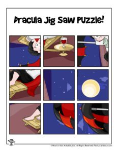 Dracula Jigsaw Puzzle Printable Activity for Kids