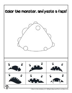 Create Your Own Halloween Monster Coloring Page