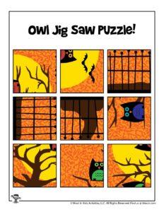 Halloween Cut & Paste Puzzle for Preschoolers