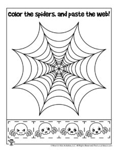 Halloween PreK Cut and Paste Activity Page