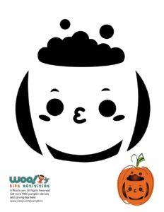Halloween Cauldron Pumpkin Carving Design