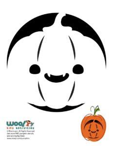 Jack o' Lantern Pumpkin Stencil for Halloween