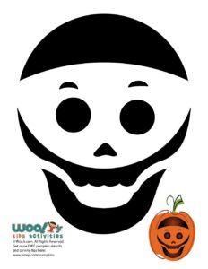 Skull Printable Halloween Pumpkin Patterns
