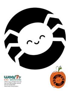 Halloween Spider Pumpkin Carving Pattern