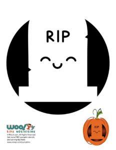 RIP Jack 'o Lantern Pumpkin Stencils
