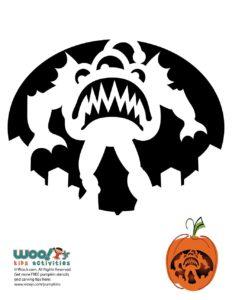 Monster Pumpkin Pattern City Attack