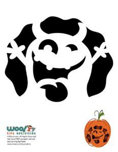 Monster Pumpkin Stencil Pattern for Halloween