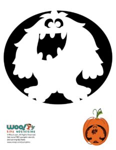 Halloween Jack o Lantern Pumpkin Stencil