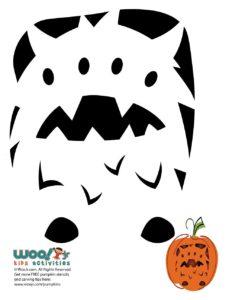 Monster Printable Pumpkin Template