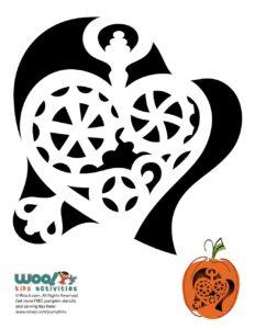 Steampunk Halloween Pumpkin Carving Pattern