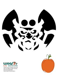 Steampunk Creative Pumpkin Carving Template